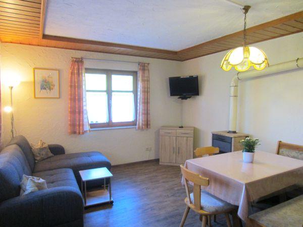 Ferienwohnung Wohnküche Terrassenblick
